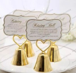"""$enCountryForm.capitalKeyWord UK - Beautiful Gold and Silver Kissing Bell"""" Bell Place Card Holder Photo Holder Wedding Table Decoration Favors free shipping MYY"""