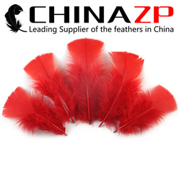 Led Costumes NZ - Leading Supplier CHINAZP Crafts Factory 500 pieces per lot Beautiful Fluffy Red Turkey Flat Feathers for Children Clothes Decorations