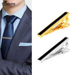 $enCountryForm.capitalKeyWord Canada - Luxury Mix-Color Design Tie Clips For Men Wedding Business Formal Suits Gold  color Best Enamel Necktie Clips T2160G