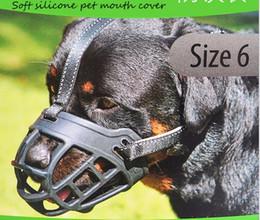 2017 vendita calda morbido silicone forte museruole cane riflettente cesto di design 6 formati anti-mordente cinghie di regolazione maschera maschera cane di alta qualità in Offerta
