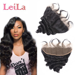 Discount cheap virgin hair closures - Peruvian 13x4 Lace Frontal Closure Loose Wave 100% Unprocessed Loose Wave Human Hair Extensions Cheap Lace Frontal Virgi
