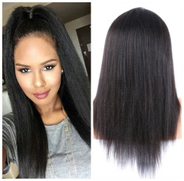 $enCountryForm.capitalKeyWord Canada - Italian Coarse Yaki Silk Top Full Lace Wigs For Black Women Brazilian Kinky Straight Human Hair Wigs Silk Base Glueless Lace Front Wigs