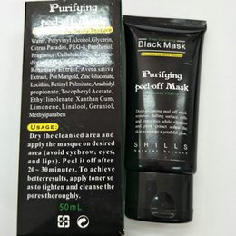 acne purifying peel off black mask NZ - ANAS Shills Peel-off face Masks daub mask purifying Matte Deep Cleansing Black MASK 50ML Blackhead Facial Mask Shills Pore Cleaner DIY