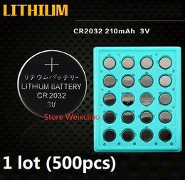 $enCountryForm.capitalKeyWord Australia - 500pcs 1 lot CR2032 3V lithium li ion button cell battery CR 2032 3 Volt li-ion coin batteries tray package Free Shipping