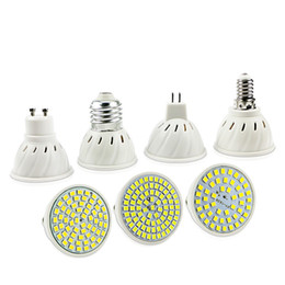 Discount spotlight E27 E14 MR16 GU10 Lampada LED Bulb 110V 220V Bombillas LED Lamp Spotlight 48 60 80 LED Lampara Spot cfl Grow Plant Light