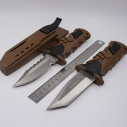 Fixed Gear Tools UK - Diving Knife Fixed Blade Hunting Knife Multipurpose Scabbard Survival Tactical Knives 440C Steel Blade Camping Gear Outdoor EDC Tools