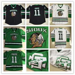 Discount hockey sioux - 11 Zach Parise North Dakota Fighting Sioux College Hockey  Jersey a389d2978