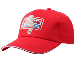 Wholesale peach costumes resale online - 2019 New BUBBA GUMP SHRIMP CO Baseball cap men women Sport Summer Cap Embroidered summer Hat Forrest Gump Costume