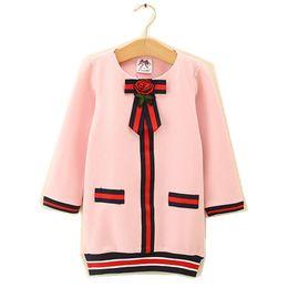 $enCountryForm.capitalKeyWord Australia - Kids Girl Dress Baby Girls Striped Bow Cotton Dresses 2-6Year Infant Princess Full Sleeve Party Dress Costume 2018 Children Clothes B799