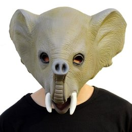 elephant masks 2019 - 2017 New Halloween Creative Mask Crazy Animal Abominable Elephant Shape Latex Material Halloween Eve Set Party Decoratio