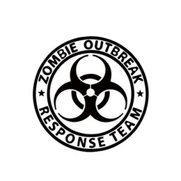 China 2017 Hot Sale Zombie Outbreak Response Team Walking Dead Car Decal Window JDM suppliers