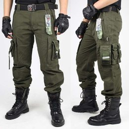 Combat army Clothes online shopping - Mens CARGO PANTS Overalls MILITARY TACTICAL PANTS Army Green And Black Combat Trouser Clothing For Men