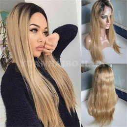 $enCountryForm.capitalKeyWord NZ - stocked ombre full lace wig 8A Grade ombre brazilian straight hair 1b 27 honey blonde human hair front lace wig free shipping