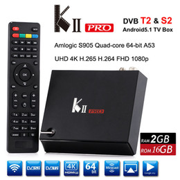 Wifi satellite tv box online shopping - DVB S2 T2 Satellite Android TV Box KII Pro Amlogic S905 Quad core GB GB Smart Mini PC G G Wifi K Media Player DLNA Airplay TVbox