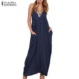 dee64174440c Wholesale- ZANZEA 2016 Summer Dress Women Dress Strapless Polka Dot Loose  Long Maxi Dress Beachwear Casual Vestidos Plus Size XS-4XL