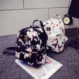 Wholesale- Indira New Arrival Fashion Girls Women Backpack Fashion Causal  Floral Printing Leather Bag Freeshipping   Wholesale e3dd0d228f9e0