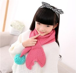 fish scarves Canada - Baby Scarf Autumn And Winter Children Scarves Knitting Beauty Fish Tail Baby Winter Warm Scarves Lovely Cartoon Scarf