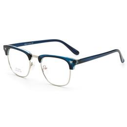 53f6086b03 Al por mayor-TR90 gafas de marco óptico hombres mujeres anteojos gafas RX  medio borde