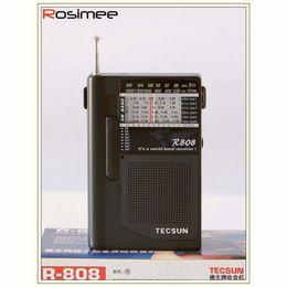 Sw Pack Australia - Wholesale-Portable TECSUN R-808 Radio High Sensitivity Receiver FM   MW   SW Radio Multiband World Band Receiver Y4141A Digital Receiver