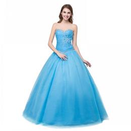 a916c95cd Vestidos de fiesta de moda Más el tamaño 2017 vestido de bola cariño coral  menta azul Quinceanera vestido barato con lentejuelas con cuentas 2017  vestido de ...