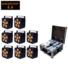 Battery disco online shopping - 8IN1 Charging Flightcase Packing W in1 RGBAW UV Battery Power Wireless LED Par Light LED Slim Par Can Event Disco Party