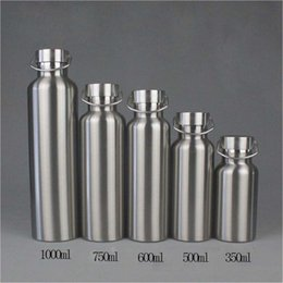 Sports Water Bottle Materials NZ - Stainless Steel Water Bottle Vacuum Insulated Sports Bottles Food Grade Materials Large Capacity Thermos Bottle for Student Outdoor DHL