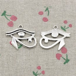 Egypt Pendants Australia - 38pcs Charms Antique Silver ancient egypt eye of Horus 33mm Pendant Zinc Alloy Charms Pendant DIY Makeing Jewelry Bracelet Necklace Fittings