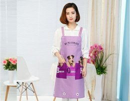 $enCountryForm.capitalKeyWord NZ - 1PC Korean Cute Bear cartoon apron women restaurant home kitchen BBQ apron water proof oil-proof Pastry Tools LB 415