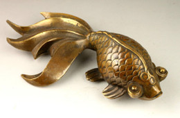 Ancient stAtues online shopping - Chinese ancient manual sculpture decoration copper statue of lovely goldfish
