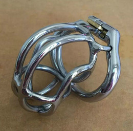 """$enCountryForm.capitalKeyWord Canada - Fashion Unique design 55mm length Stainless Steel Super Small Male Chastity Device 2.1"""" Short Curve Cock Cage For Men BDSM Sex Toys"""