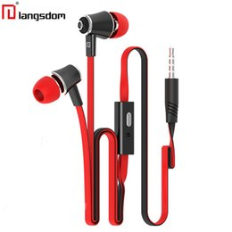 $enCountryForm.capitalKeyWord Canada - Langsdom jm21 Earphone Brightly Colorful Earphones With Mic 10 Colors Orange Purple Pink Red Black White Yellow Green Blue Rose