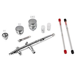 Airbrush kits online shopping - SP186T Gravity Feed Dual Action Trigger Airbrush Kit mm mm mm Needle Air Brush Spray Gun Paint Art