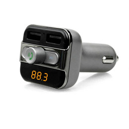 5v radio UK - New BT20 Multifunction 4-in-1 Bluetooth Car Radio Adaptor Handsfree FM Transmitter MP3 Music Player 5V 3.4A Dual USB Car charger