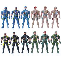 Il soldato di giocattolo mobile dei giunti di modello militare del modello 9cm 5 speciale tipo trooper il giocattolo statico militare 3pcs / set del modello libera il trasporto