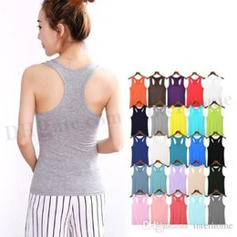 bodycon tank Canada - Women Candy Color Vest Modal Cotton Shirts Summer Sleeveless Tank Fashion Long Crop Tops Casual Blouse Sexy Vest Bodycon Tank Shirt D309