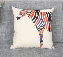 a82060e54337 Print Linen Throw Pillow Case Square 18