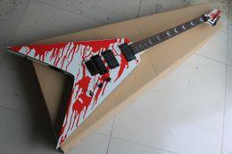 $enCountryForm.capitalKeyWord NZ - New Arrival Custom Shop Blood Tears James Hetfield Electric Guitar Floyd Rose Bridge Active pickups 1027