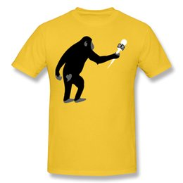 Chinese  Monkey Business Shorts Sleeve Tees boy's t shirts fashion design simple painting print man's cotton tees shirt. manufacturers