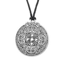 tibetan coins UK - 5 PCS Coin Jewelry Viking Pendant Vadstena Bracteate Hand Stamped Tibetan Necklace Medallion Amulet For Men