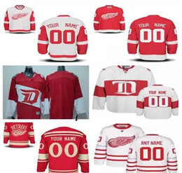cfd07b08 ... Jersey Detroit Red Wings Custom Stitched mens womens youth White 2017  Centennial Classic Winter Customized Red Stadium ...