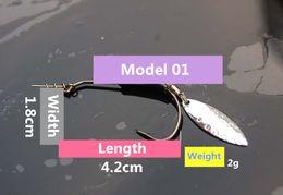 Spoon Hooks Wholesale NZ - 3pcs of Metal Spoon Fishing Lure Spinner Fish Hook with Lead Sequins Tartness Barbed hooks Carp Fishing Tackle Pesca Hooks