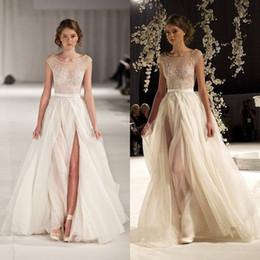 4858db8c6 Discount black jersey formal backless crystal dresses Sheer Tulle Runway  Prom Dresses Cap Sleeves Beaded Formal