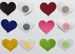6 cores 5.8 * 4.8 cm forma de coração Segurança e proteção ambiental mamilo abrange etiqueta almofada de mama T-Tit cobertura de fita em Promoção