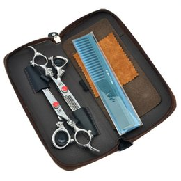 Kasho Hair Cutting Scissors UK - 6.0Inch Kasho JP440C Professional Hairdressing Scissors Set Hair Cut Shears Cutting Scissors &Thinning Shears Barber Salon Tools,LZS0363