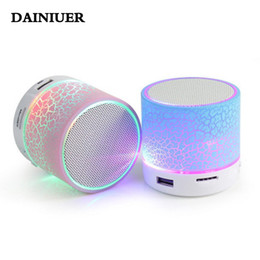 Chinese  Wholesale- LED A9 Portable Mini Bluetooth Speakers Wireless USB Player Speaker With TF USB FM Blutooth Music For Car Mobile Phone iPhone 6 manufacturers