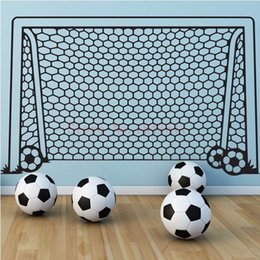 football wall stickers Australia - Football Goal Net Wall Stickers for kids room decoration DIY vinyl wall sticker 55*95 cm