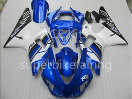 $enCountryForm.capitalKeyWord Australia - 3Gifts New Hot sales bike Fairings Kits For YAMAHA YZF-R1 1998 1999 R1 98 99 YZF1000 Cool White Blue SX13