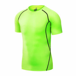 Barato Manga Curta Sob Camisa De Base-2017 New Mens Short Sleeve Compression Shirt Base Layers Under Tops Skins Gear Wear T-Shirts Jersey Tee Tops