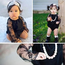 $enCountryForm.capitalKeyWord Canada - Ins Hot 2017 Summer Baby Girl Black Lace Rompers Infant Toddlers Sexy Tulle Lace Onesies Jumpsuit