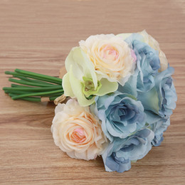 $enCountryForm.capitalKeyWord NZ - Butterfly orchid rose bunch of simulation flower wholesale artificial flowers wedding bouquet home decoration